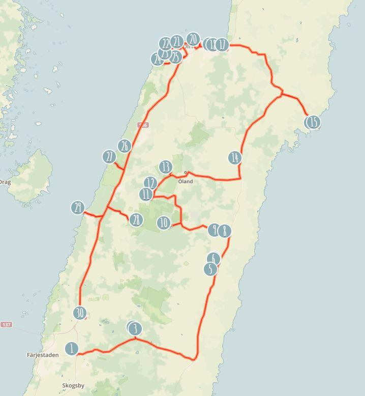 karta färjestaden öland Färdvägar   åk runt bland Ölands bästa sevärdheter   Allt på Öland karta färjestaden öland
